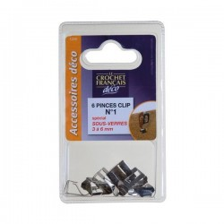 PINCE CLIPS S/VERRE 3-6 MM X6       C1206