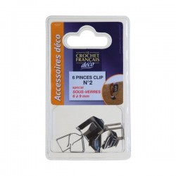 PINCE CLIPS S/VERRE 6-9 MM X6       C1207