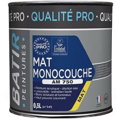PEINTURE MAT MONOCOUCHE AM750 0,5 L BLANC