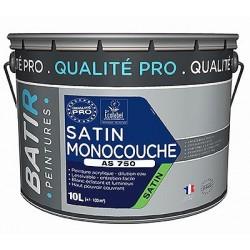 PEINTURE SATIN MONOCOUCHE AS750 10 L BLANC