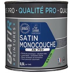 PEINTURE SATIN MONOCOUCHE AS750 0,5 L BLANC