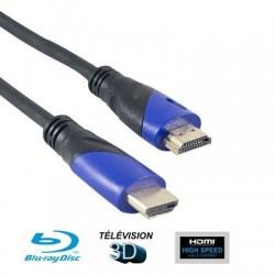 CORDON HDMI FICHE DOREE 1M50 BLISTER DBHDMI