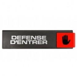 PLAQUE DEFENSE D'ENTRER SL12        4260129