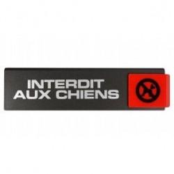 PLAQUE INTERDIT AUX CHIENS SL4      4260464