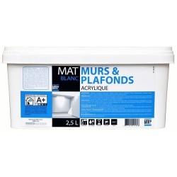 MURS & PLAFONDS MAT 2,5 L BLANC BATIR 1ER NOUVEAU