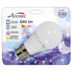 AMP LED STD B22 7W 470 LM ANGLE 180° 3000K BLIST 1