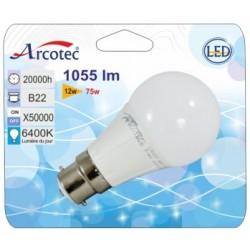 AMP LED STD B22 12W 1055 LM ANGLE 180° 3000K BLIST 1 NOUVEAU