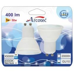 SPOT LED STD GU10 5W 410 LM ANGLE 38° 3000K BLIST 2