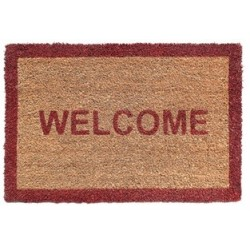 TAPIS COCO 40X60 WELCOME ROUGE EP 15MM