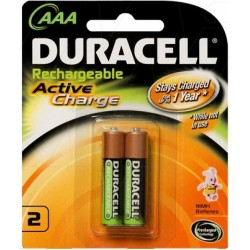 PILE RECHARG.HR03 CHARGEE AAA 2* DURACELL
