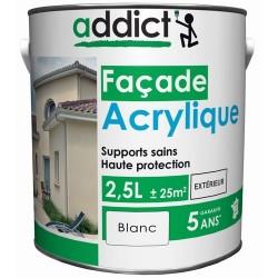 ACRYLIQUE FACADE 2,5 L BLANC ADDICT