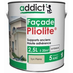 PLIOLITE 100% FACADE 2,5 L TON PIERRE ADDICT