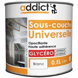 SOUS-COUCHE UNIVERSELLE MAT 0,5 L BLANC ADDICT