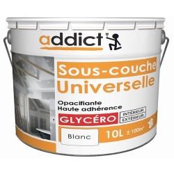 SOUS-COUCHE UNIVERSELLE MAT 10 L BLANC ADDICT