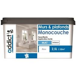 ACRYLIQUE MAT MONOCOUCHE 2,5 L BLANC ADDICT