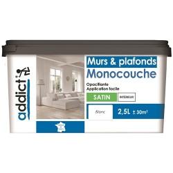 ACRYLIQUE SATINE MONOCOUCHE 2,5 L BLANC ADDICT