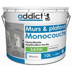 ACRYLIQUE SATIN MONOCOUCHE 10 L BLANC ADDICT
