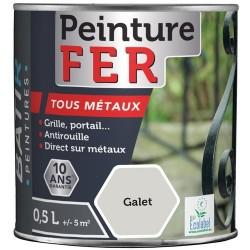 PEINTURE FER BRILLANTE 0,5 L GALET AQUAREL