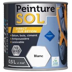 PEINTURE SOL SATINEE 0,5 L BLANC AQUAREL