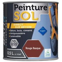 PEINTURE SOL SATINEE 0,5 L ROUGE TOMETTE AQUAREL