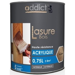 LASURE DECOR BOIS BLEU 0,75 L INCOLORE
