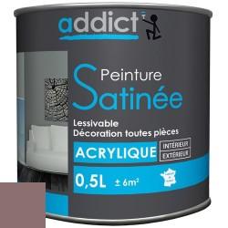 ACRYLIQUE SATINEE 0,5 L TAUPE ADDICT