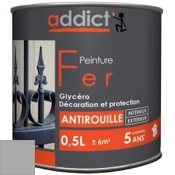 PEINTURE FER BRILLANTE 0,5 L GRIS ARGENT ADDICT