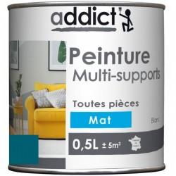 PEINTURE ACRYL MULTI-SUPPORTS MAT 0,5 L BLEU PETROLE NOUVEAU