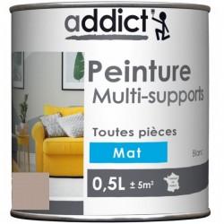 PEINTURE ACRYL MULTI-SUPPORTS MAT 0,5 L CENDRE NOUVEAU