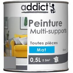 PEINTURE ACRYL MULTI-SUPPORTS MAT 0,5 L GALET NOUVEAU