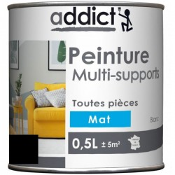 PEINTURE ACRYL MULTI-SUPPORTS MAT 0,5 L NOIR NOUVEAU