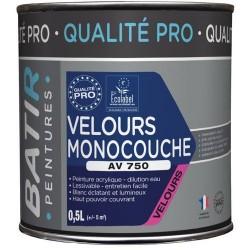 PEINTURE VELOURS MONOCOUCHE AV750 BLANC 0,50 L NOUVEAU