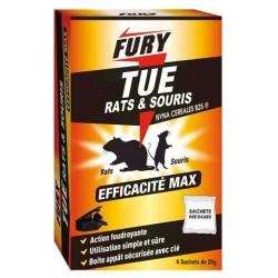 FURY RATS ET SOURIS UNIDOSE 25G X 6