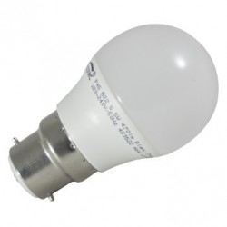 AMP LED SPHERIQUE B22 3W 330 LM ANGLE 180°  3000K BLIST 2 NOUVEAU