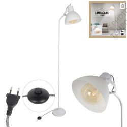 LAMPADAIRE BLANC +INTERR ABS E27 1M72X0M48X0M23 NOUVEAU
