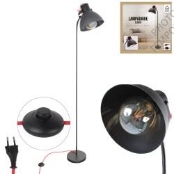 LAMPADAIRE NOIR +INTERR ABS E27 1M72X0M48X0M23 NOUVEAU