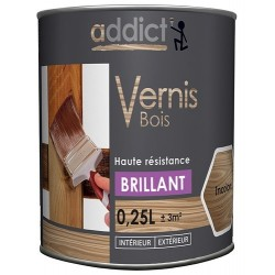 VERNIS BOIS BRILLANT INCOLORE 250 ML ADDICT