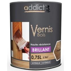 VERNIS BOIS BRILLANT INCOLORE 750 ML ADDICT