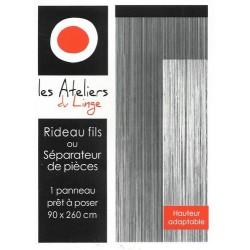 RIDEAUX FILS 90X260CM COLORIS ASSORTIS