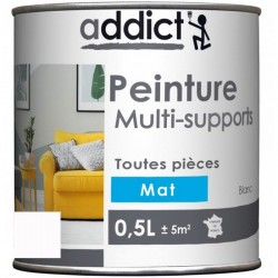 PEINTURE ACRYL MULTI-SUPPORTS MAT 0,5 L BLANC