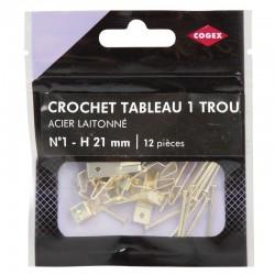 CROCHET A TABLEAU 1 TROU LAITONNE N1 12 PCS