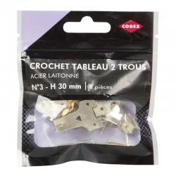 CROCHET A TABLEAU 2 TROUS LAITONNE N3 8 PCS
