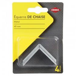 EQUERRE DE CHAISE 40MM  4PCS