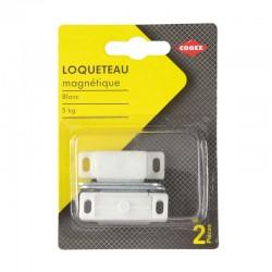 LOQUETEAU MAGNETIQUE BLANC 5KG  2 PCS