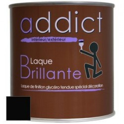 LAQUE BRILLANTE 0,5 L NOIR ADDICT