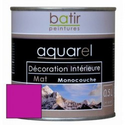 ACRYLIQUE DECORATION INT MAT 0,5 L BOIS DE ROSE AQUAREL