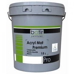 ACRYL MAT PREMIUM 1000 BLANC 15L BATIR PRO