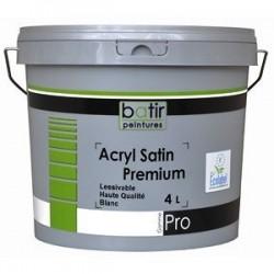 ACRYL SATIN PREMIUM 1000 BLANC 4L BATIR PRO