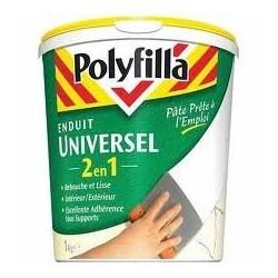 ENDUIT UNIVERSEL 2 EN 1 - 1 KG POLYFILLA